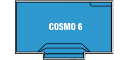 DIY Swimming Pools' Cosmo 6 Pool Design - 6 metre pool with a depth ranging between 1.1m to 1.7m