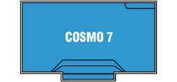 DIY Swimming Pools' Cosmo 7 Pool Design - 7 metre pool with a depth ranging between 1m to 1.75m