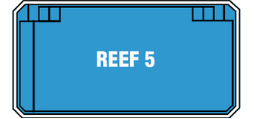 Reef 5 Swimming Pool by DIY Swimming Pools - 5 metre pool with a depth of 1.5 m