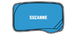 DIY Swimming Pools' Sussane Pool Design - 6 metre pool with a depth ranging between 1.23m to 1.7m